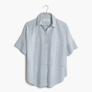 Madewell Courier Shirt in Stripe Play